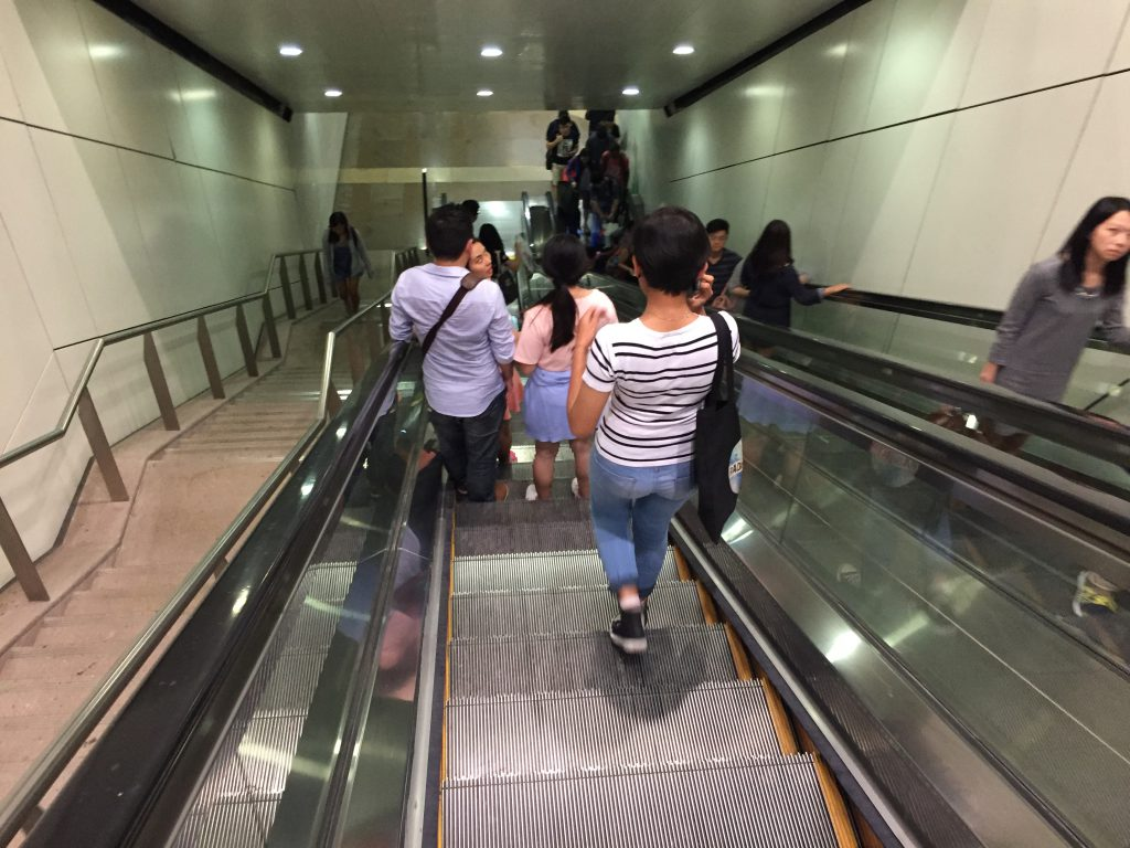 Downtown Line Escalator